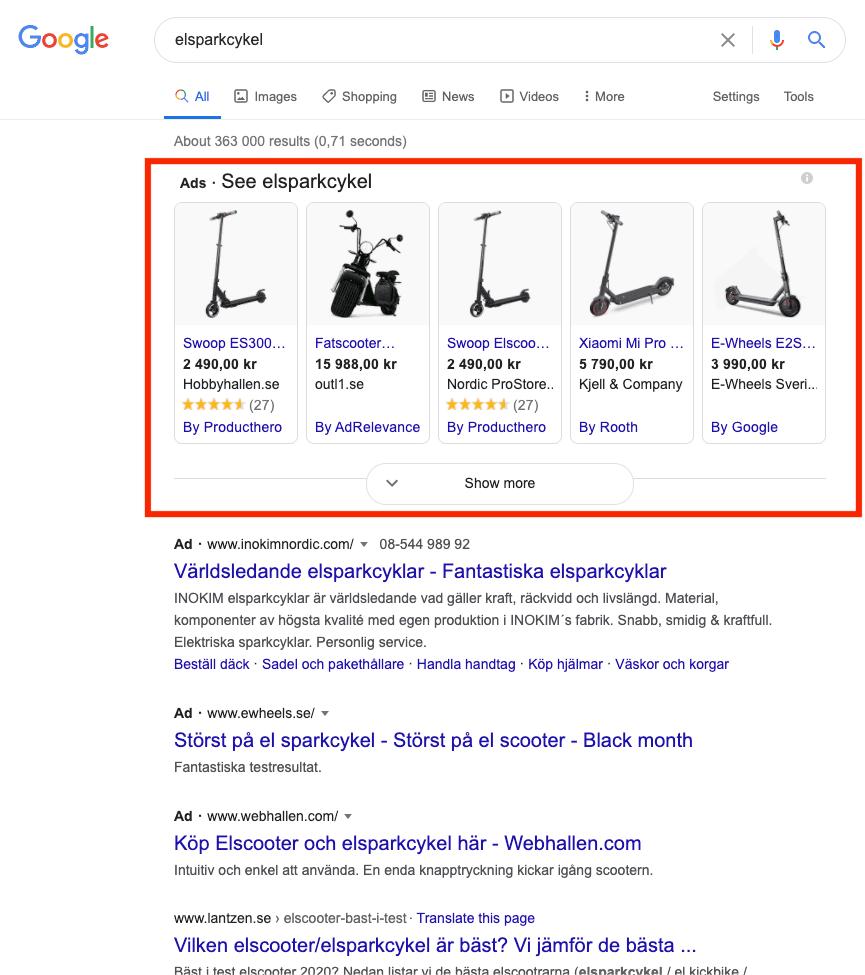 Vad är Google Shopping?