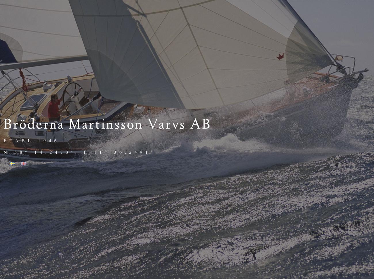 hemsida blå webbyrå byggt för martinssonsvarv.se